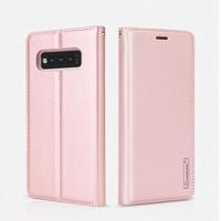 Rose Gold Samsung Galaxy S10+ Plus Hanman Rich Diary Wallet Case - 1