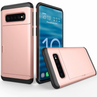 Rose Gold Slide Armor Defender Case for Samsung Galaxy S10+ Plus