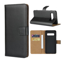 Black Genuine Leather Business Wallet Case For Samung Galaxy S10E- 6