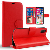 Red Photo Frame Wallet Card Slot Case For Apple iPhone XS Max - 1