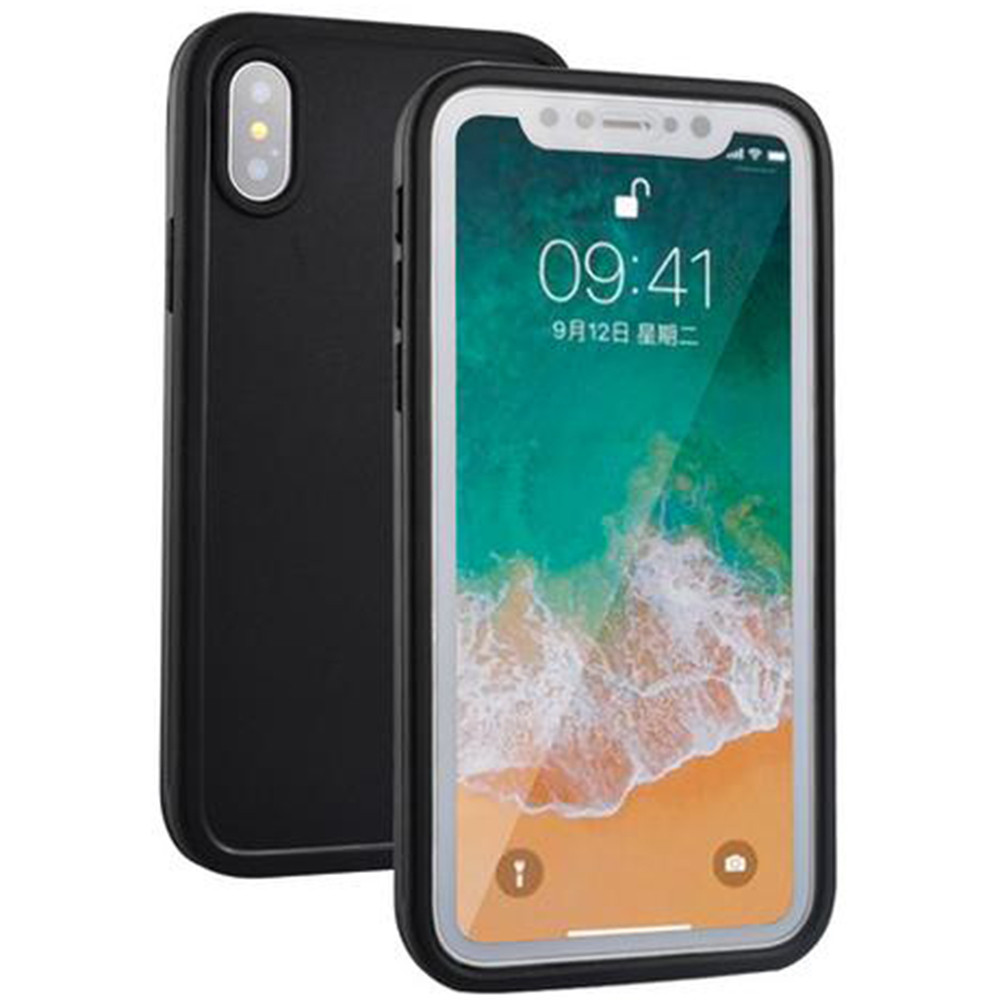 new concept efa0b 8b1de Black Full Body Water Resistant TPU Gel Case For Apple iPhone XS Max