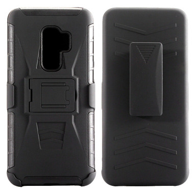 Samsung Galaxy S9 Black Military Defender Case w/ Optional Holster - 1