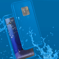 Blue Water Resistant Full Body TPU Gel Case For Samsung Galaxy S9 - 1