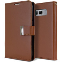 Brown Genuine Mercury Rich Diary Quality Wallet Case For Galaxy S10 - 1