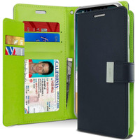Navy Genuine Mercury Rich Diary Quality Wallet Case For iPhone XS MAX - 1