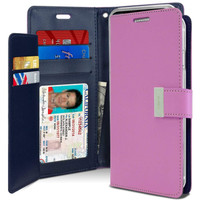 Fashionable iPhone XS MAX Mercury Rich Diary Wallet Case - Purple - 1