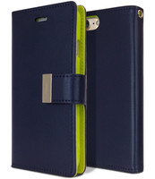 Navy Genuine Mercury Rich Diary Premium Wallet Case For iPhone 7 / 8 - 1
