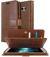 Brown Genuine Mercury  Quality Wallet Case For Galaxy S10E - 1