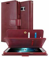 Classy Wine Genuine Mercury Mansoor Diary Wallet Case For Galaxy S10 - 1