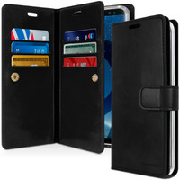 Black Genuine Mercury Mansoor Diary Wallet Case For Galaxy S9 + Plus - 1