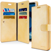 Galaxy S9 + Plus Mercury Mansoor Diary Quality Wallet Case - Gold - 1