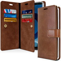 Galaxy S9 Plus Mercury Mansoor Diary Wallet Case - Vintage Brown - 1