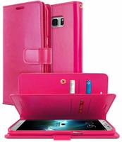 Galaxy S8 Genuine Mercury Mansoor Diary Wallet Flip Case - Hot Pink - 1