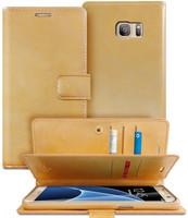 Fashionable Galaxy S6 Genuine Mercury Mansoor Diary Wallet Case - Gold - 1