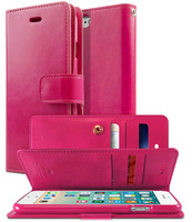 Hot Pink Genuine Mercury Mansoor Diary Stylish Wallet Case For iPhone XR - 1
