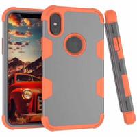 Tradies Orange / Grey Heavy Duty Robot Defender Case For iPhone X / XS - 1