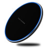 Black Qi Wireless Charger Fast 10W Pad Receiver For Galaxy S10 S10+ S10E - 1