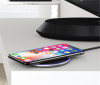 Black Qi Wireless Charger Fast 10W Pad Receiver For Galaxy S10 S10+ S10E - 7