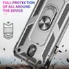 Rose Gold 360 Rotating Stand Metal Defender Case For Galaxy A20 / A30   - 2