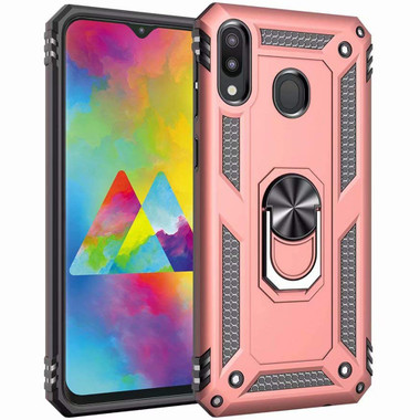 Rose Gold 360 Rotating Stand Metal Defender Case For Galaxy A20 / A30 - 1
