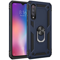 Navy Slim Armor 360 Rotating Metal Ring Stand Case For Galaxy A50  - 1