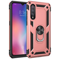 Rose Gold Slim Defender 360 Rotating Metal Stand Case For Galaxy A70 - 1