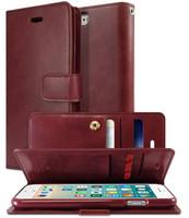 Classy Wine iPhone 6 / 6S Genuine Mercury Mansoor Quality Wallet Case - 1