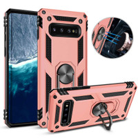 Rose Gold 360 Rotating Metal Ring Heavy Duty Stand Case For Galaxy S10 - 1