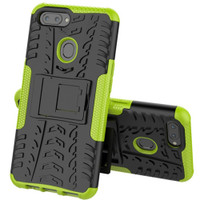 Green Heavy Duty Hybrid Kickstand Tradies Case For Oppo AX5 / A3S