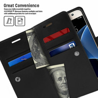 Black Galaxy J5 Pro Genuine Mercury Mansoor Diary Quality Wallet Case- 5