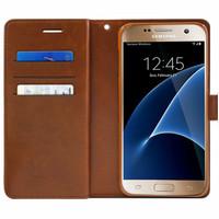 Brown Galaxy J5 Pro Genuine Mercury Mansoor Diary Wallet Case - 1