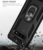 Black Slim 360 Rotating Metal Ring Armor Stand Case For Galaxy S10 5G - 7