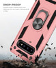 Rose Gold Slim Armor 360 Rotating Kickstand Case For  Galaxy S10 5G - 4