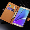 Brown Genuine Leather Wallet Case For Samsung Galaxy Note 5 - 2