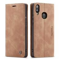 Brown CaseMe Slim Magnetic Elegant Wallet Case For Galaxy A20 / A30 - 1