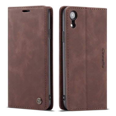 Business iPhone XS Max CaseMe Soft Matte Wallet Case - Coffee - 1