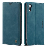 Premium iPhone XS Max CaseMe Slim Magnetic Wallet Case - Blue - 1