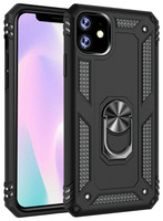 Black Slim Armor 360 Rotating Stand Metal Case For iPhone 11 - 1