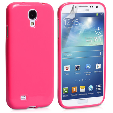 Hot Pink Gloss Gel Case for Samsung Galaxy S4