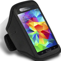 Black Active Sports Armband Case for Samsung Galaxy S5 Phone Cover