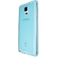 Samsung Galaxy Note 4 Case Ultra Slim Soft Gel Cover - Blue - 1