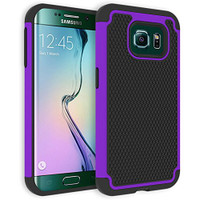 Purple Shockproof Heavy Duty Case for Samsung Galaxy S6 SVI Shock Proof