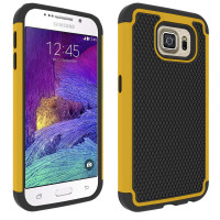 Yellow Samsung Galaxy S6 Shock Proof Defender Heavy Duty Case Cover