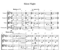 String Orchestra - Silent Night w/ KARAOKE Play-Along Track - Sheet Music