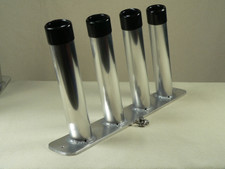 Rod Station Four Rod Rocket Launcher Fishing Rod Holder.  Polished