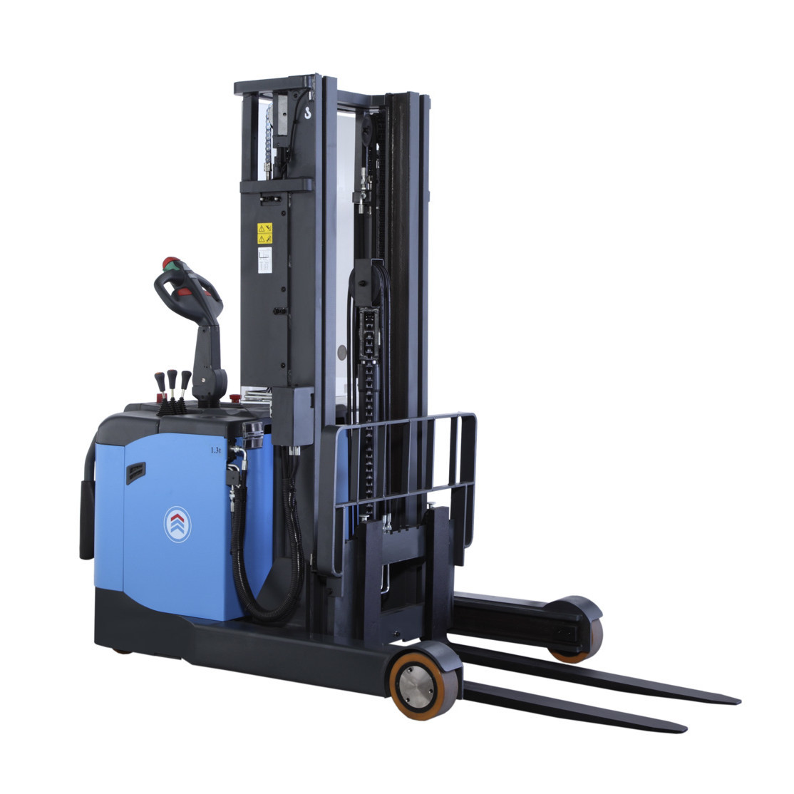Powered Pallet Truck Reach Pallet Stacker With 3m Reach 1300kg Lifting Capacity