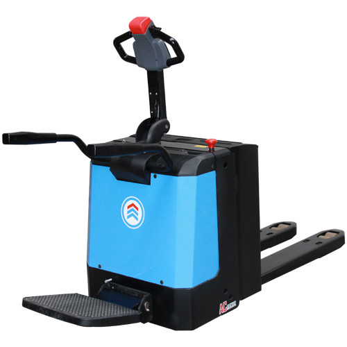 2 Ton Walk Behind Pallet Stacker Electric Forklift Price 1: Powered Pallet Truck AC Technology Lifting Up To 2000kg