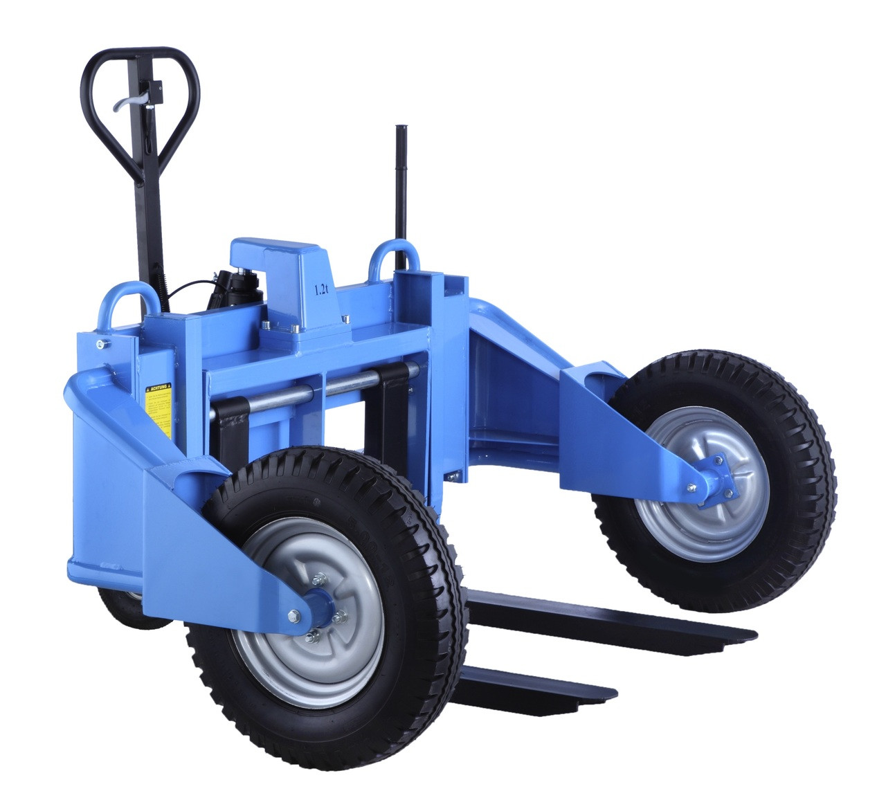 2 Ton Walk Behind Pallet Stacker Electric Forklift Price 1: All Terrain Pallet Truck, Off Road Pallet Truck, Rough