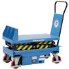 Tilting mobile lift table