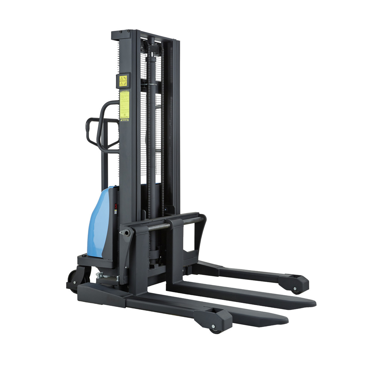 2 Ton Walk Behind Pallet Stacker Electric Forklift Price 1: Semi-Electric Straddle Pallet Stacker Lifting Up To 1500kg